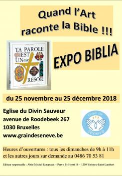 Affiche Expo Biblia