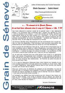 Octobre 2016 - Le numéro 50 - Philippe Laporte passe la main à Vincent Dupriez