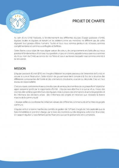 La charte de l'UP